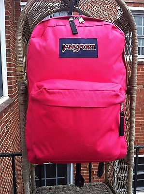 Jansport Full Size Hot Pink Student Backpack Very Good Condition Must See!