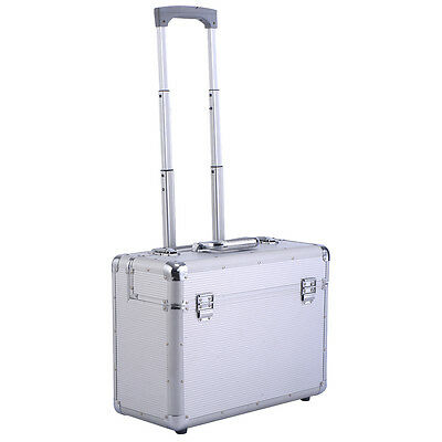 Aluminum Rolling Trolley Suitcase Carry-on Briefcase Business Luggage Bag New