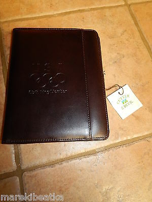 Beautiful Cutter & Buck Brown Leather Sixth Ring Member Writing Pad, Padfolio