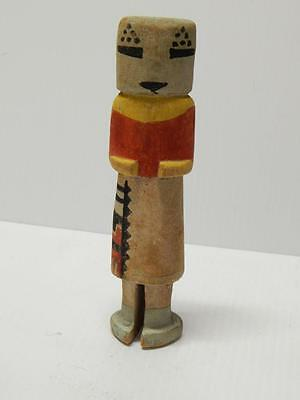 "Extra Nice Old  Hopi Indian Kachina Doll - Stiff Arm - Old Colors  - 7"" Tall"