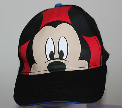Disney Mickey Mouse Black/Red baseball Cap One Size