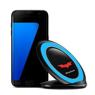 Qi Wireless Charger Charging Stand Dock for Samsung Galaxy S7 / S7 Edge Blue