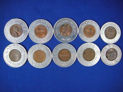 Encased Pennies Good Luck Tokens Lot of 10 (lot #8)