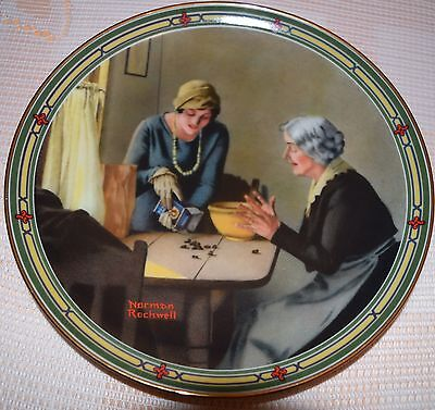 Norman Rockwell Mothers Plate A Familys Full Measure 1985 E.Knowles
