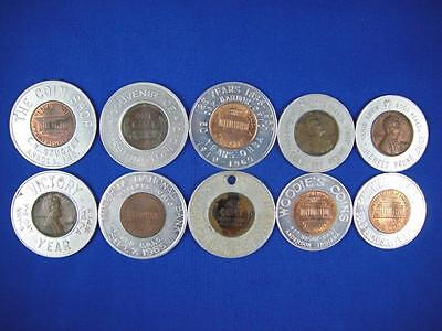 Encased Pennies Good Luck Tokens Lot of 10 (lot #5)