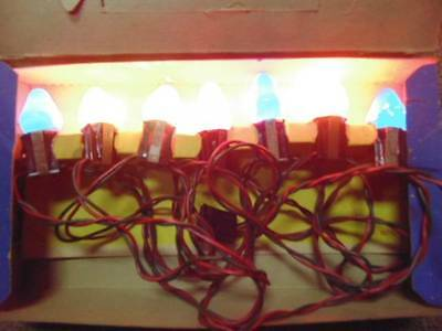 Vtg 7 Count Ever Lite Christmas Light String Lighting Outfit In Org Box Indoor !
