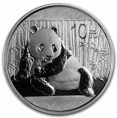 2015 Silver Chinese Panda (BU) 1 Oz .999 Silver In Capsule Lot 224