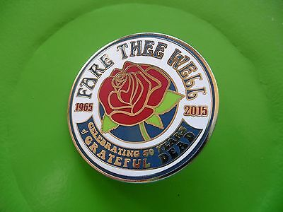 """Grateful Dead FARE THEE WELL""""ROSE"""" Pin - New in BAG - bought on Lot"""