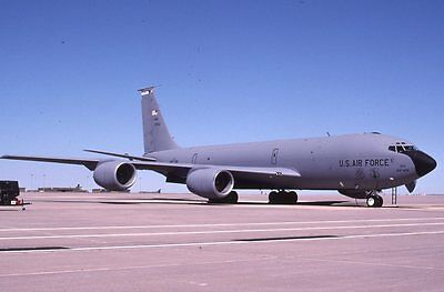 Usaf Kc-135R 62-3513 127 Ars  Original Color Slide Kodachrome