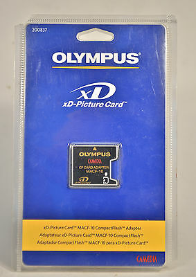NOS Olympus xD-Picture Card MACF-10 Compact Flash CF Card Adapter sealed