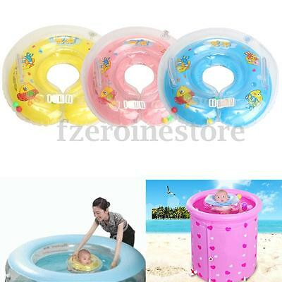 Adjustable Baby Bath Swimming Neck Float Inflatable Ring Safety Aid 1-18 Months