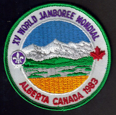 Boy Scouts Xv World Jamboree Alberta Canada 1983 Embroidered Patch