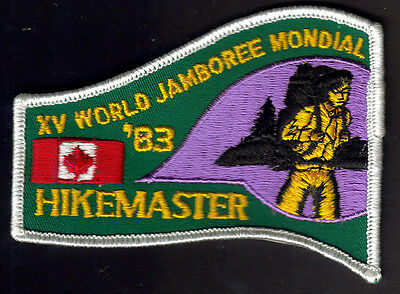 Boy Scouts Xv World Jamboree Alberta Canada 1983 Hikemaster Embroidered Patch
