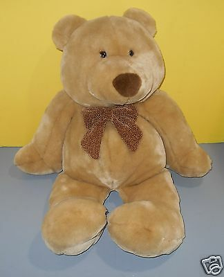 """2000 Large 28"""" Animal Alley Toys R Us Teddy Bear Big Nose Plush Cord Velour Bow"""