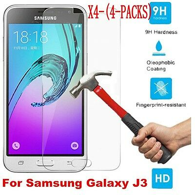4x Tempered Glass Protective Screen Protector Film for Samsung Galaxy J1 2 3 5 7