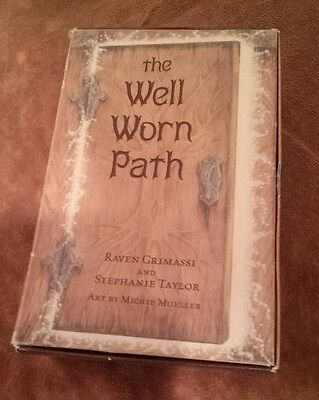 The Well Worn Path Raven Grimassi Book 40 Cards black organdy bag magic wicca