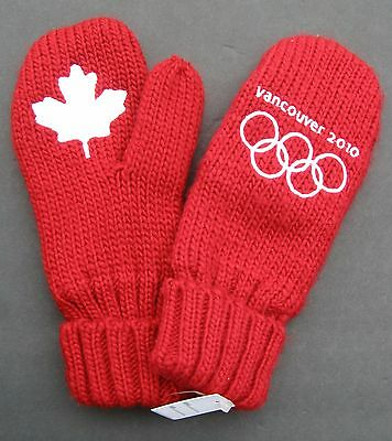 Vancouver 2010 Winter Olympics Mittens Mitts Gloves Youth/small