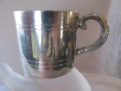 Vintage Antique English Pewter Baby Cup Tankard Handle Made in England