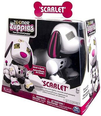 NEW  Spin Master Zoomer Zuppies - Scarlet - Interactive Robot Puppy Toy 20063689