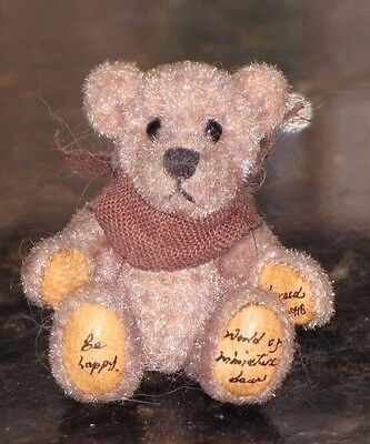 World of Miniatures Tiny Light Brown 1998 Theresa's Teddy Bear 1 3/4 inch
