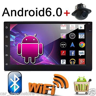 "HD 7"" Android 6.0 Double 2 Din Car Stereo Radio GPS Wifi 3G Bluetooth NO DVD+CAM"