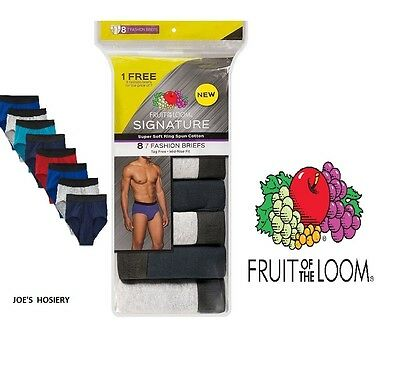 """Fruit Of The Loom Men 8 Pack Fashion Color Brief """"signature"""""""
