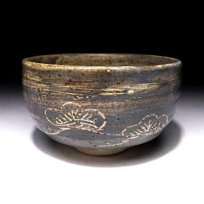 CC9: Vintage Japanese Tea bowl, Shino ware, Gray glaze