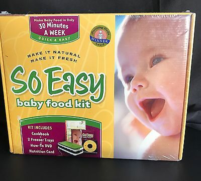Fresh Baby So Easy Baby Food Kit , New, Free Shipping