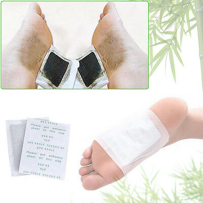 100 PCS Detox Foot Patch Bamboo Pads Health Care Detox Pad