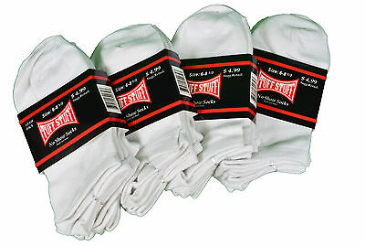 Lot of 12 Pairs Womens Tuff Stuff White No Show Sport Socks 6-8 1/2