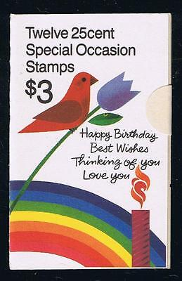 US BK165 (1988) - Special Occasions - Small Print IFC - Booklet Issue