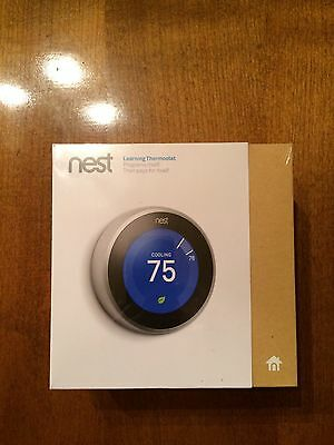 Nest Learning Thermostat 3rd Generation BRAND NEW FAST FREE SHIPPING!!
