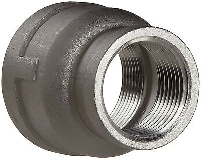 "Stainless Steel Pipe Fitting Reducing Coupling Class 150 1/2"" X 3/8"" NPT Female"