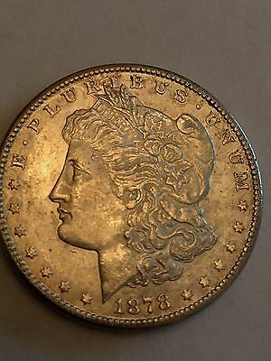 1878-S, Uncirculated Morgan Silver Dollar Mint State