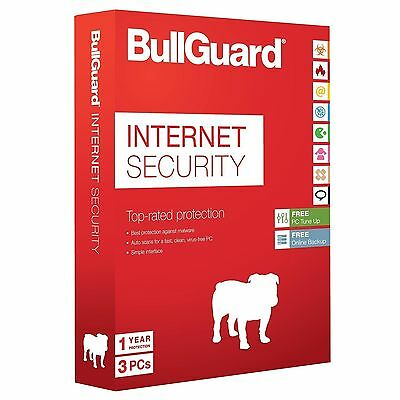 BullGuard Internet Security 2016 (v16) 1 Year, 3 PC Users (NO-CD) Latest Edition