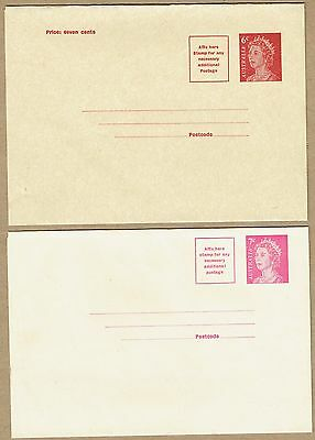 Australia Stationery 5c (2, one uprate), 6c and 7c Wrappers unused (4)