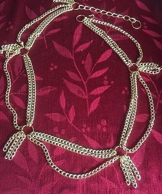 Belly Dancing Belt Gold Chain  Costume /Class....Drapes/dangles