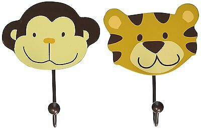 NoJo Wall Hooks, Jungle, 2 Count