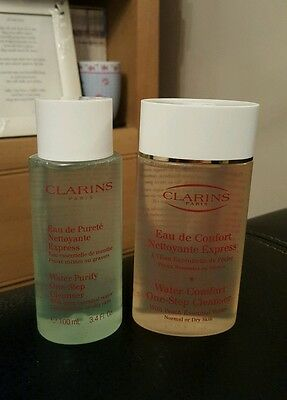 Clarins Water Comfort One-Step Cleanser with Peach and mint purify  2 X 100ml