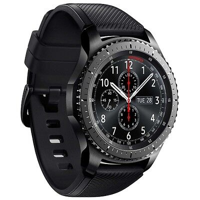 Samsung Gear S3 Frontier R760 Android Smartwatch Fitnessarmband Tracker WOW!