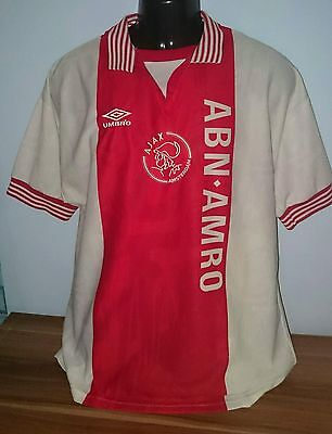 Rare Ajax Amsterdam Holland Home Shirt  Jersey Umbro 1996-1997 Large