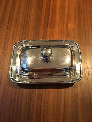 Silver plated Brissi butter dish