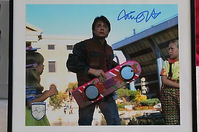 Autographe OFFICIAL PIX Back to the Futur II Michael J. Fox Marty McFly ORIGINAL