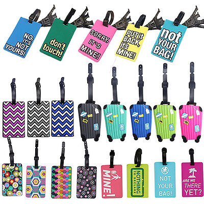 Suitcase Pattern Luggage Tags Name ID Address Holder Identifier Label Seraphic