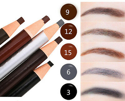 Waterproof Long Lasting Eye Brow Black Brown Eyebrow Pencil Makeup Cosmetic Tool