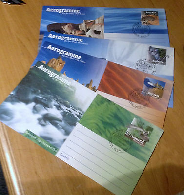 Collection Of 4 Australia Aerogramme Covers From 1997