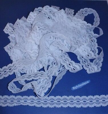 10   metres  of   White   Cotton look    Eyelet Lace        25 mm Wide