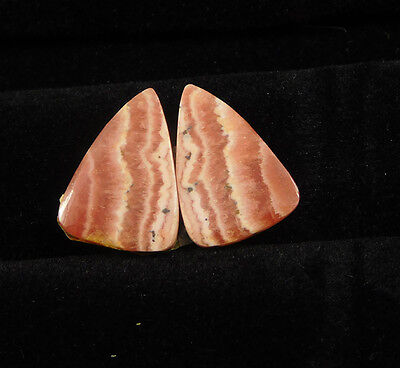 22 Cts. 100% Natural Matched Pair Of Rhodochrosite Loose Cabochon Gemstone(NH383