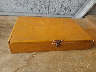 vintage old imperiales la hacuenda wooden cigar box