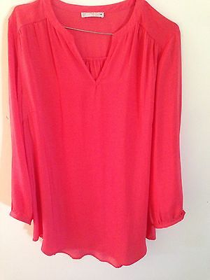 Womens Orange Long Sleeve Shirt Top Size 14 Hot Options